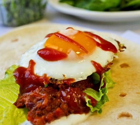Mexican Egg and Bean Wrap