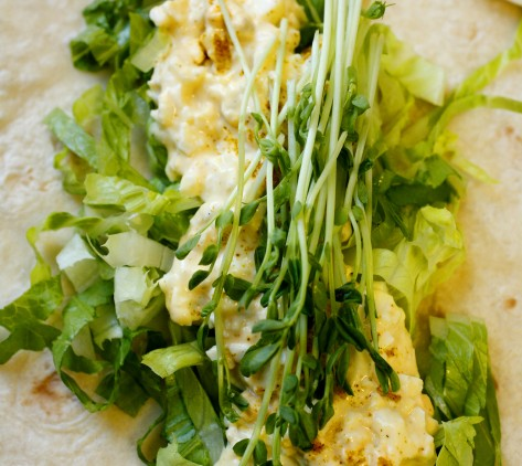 Curried Egg Wrap